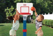 an toàn cho trẻ chơi bóng rổ